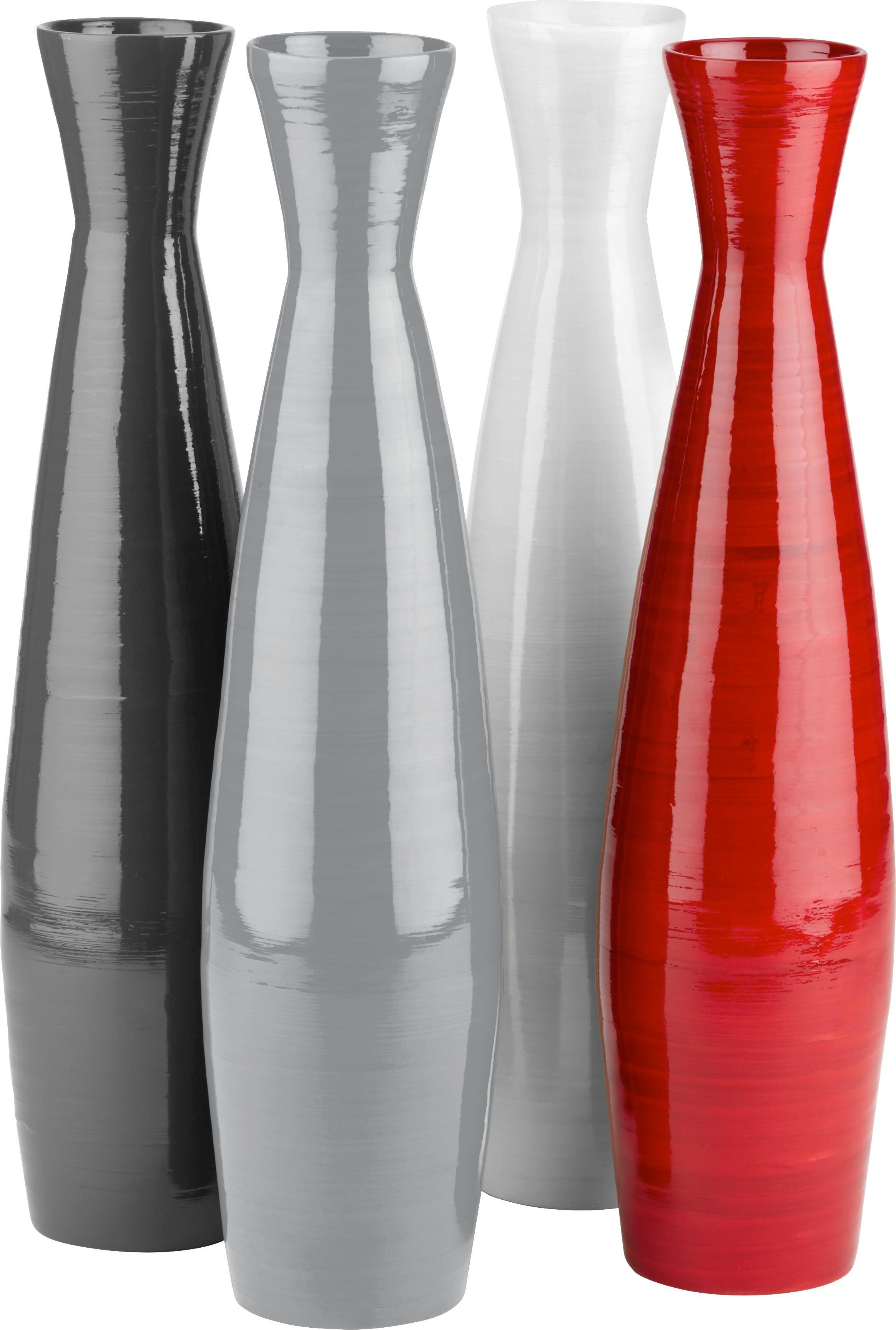 Vase Diana in verschiedenen Farben - Weiß/Grau, LIFESTYLE, Holz (11/46cm) - MÖMAX modern living