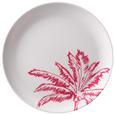 Dessertteller Diamond Palm Ø ca. 20cm - Pink/Weiß, Kunststoff (20cm) - Modern Living