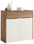 Schuhschrank Weiß/Kiefer - Alufarben/Weiß, MODERN, Holzwerkstoff/Kunststoff (105/103/42cm)