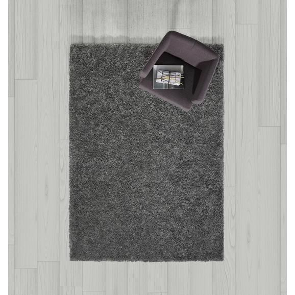 Teppich Hochflor Shaggy ca. 160x230 cm - Dunkelgrau, MODERN, Textil (160/230cm) - Bessagi Home