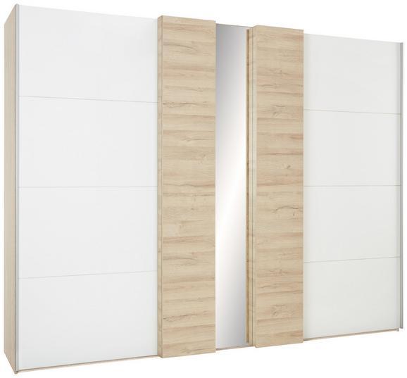 Schwebetürenschrank Weiß/Eichefarben - Eichefarben, KONVENTIONELL, Holzwerkstoff/Kunststoff (270/211/70cm) - Premium Living