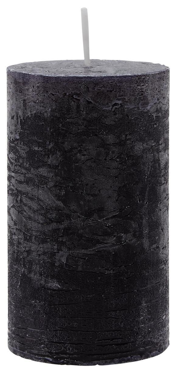 Stumpenkerze Lia Schwarz - Schwarz, MODERN (6,8/12cm) - Mömax modern living