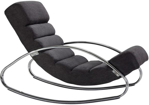 Ležišče Wave - črna/krom, Moderno, kovina/tekstil (62/82/112cm) - Mömax modern living