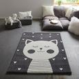 Kinderteppich Cat 2 in Anthrazit - Anthrazit, Basics, Textil (100/150cm) - Mömax modern living