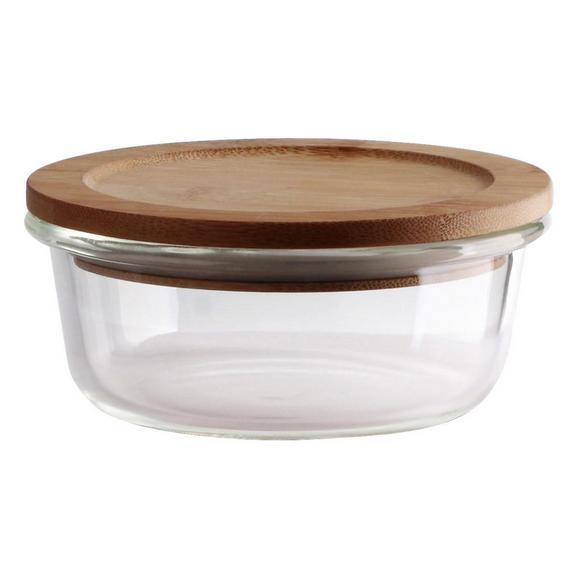 Frischhaltedose Annegret ca. 250ml - Klar/Transparent, Glas/Holz (13/5,7cm) - Zandiara