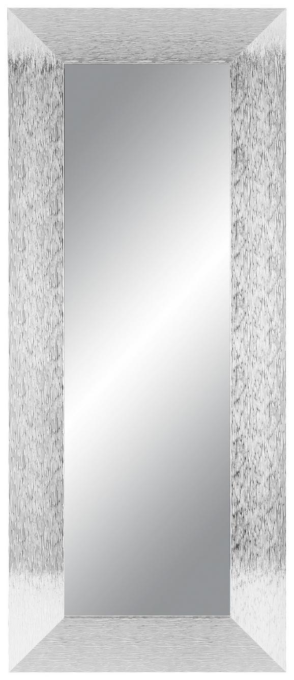 Stensko Ogledalo Sisi - krom, Moderno, steklo/leseni material (50/120cm)