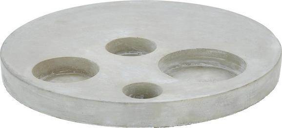 Teelichtständer Pierre in Grau/zement - Grau, Stein (35/3cm)
