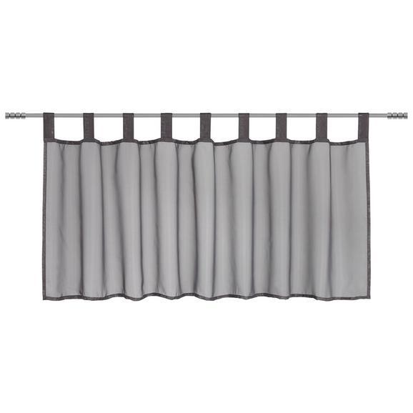 Kratka Zavesa Hanna - antracit, tekstil (145/50cm) - Mömax modern living