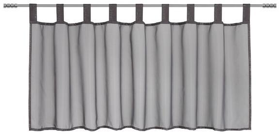 Kurzgardine Hanna Anthrazit ca. 145x50cm - Anthrazit, Textil (145/50cm) - Mömax modern living