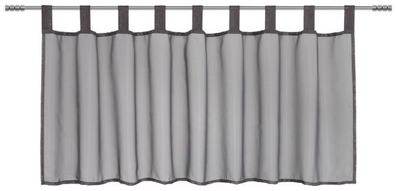 Kurzgardine Hanna in Anthrazit,ca.145x50cm - Anthrazit, Textil (145/50cm) - Mömax modern living