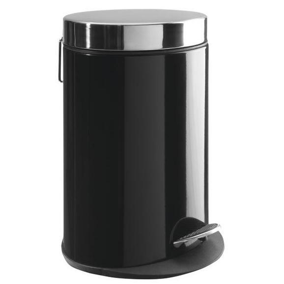 Koš Za Smeti Carmen - črna/nerjaveče jeklo, Moderno, kovina/umetna masa (22/29,5/16,5cm) - Mömax modern living