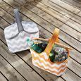 Kühltasche in Grau/Weiss 'Nick' ca.40x20x25cm - Weiß/Grau, Kunststoff/Textil (40/20cm) - Bessagi Garden