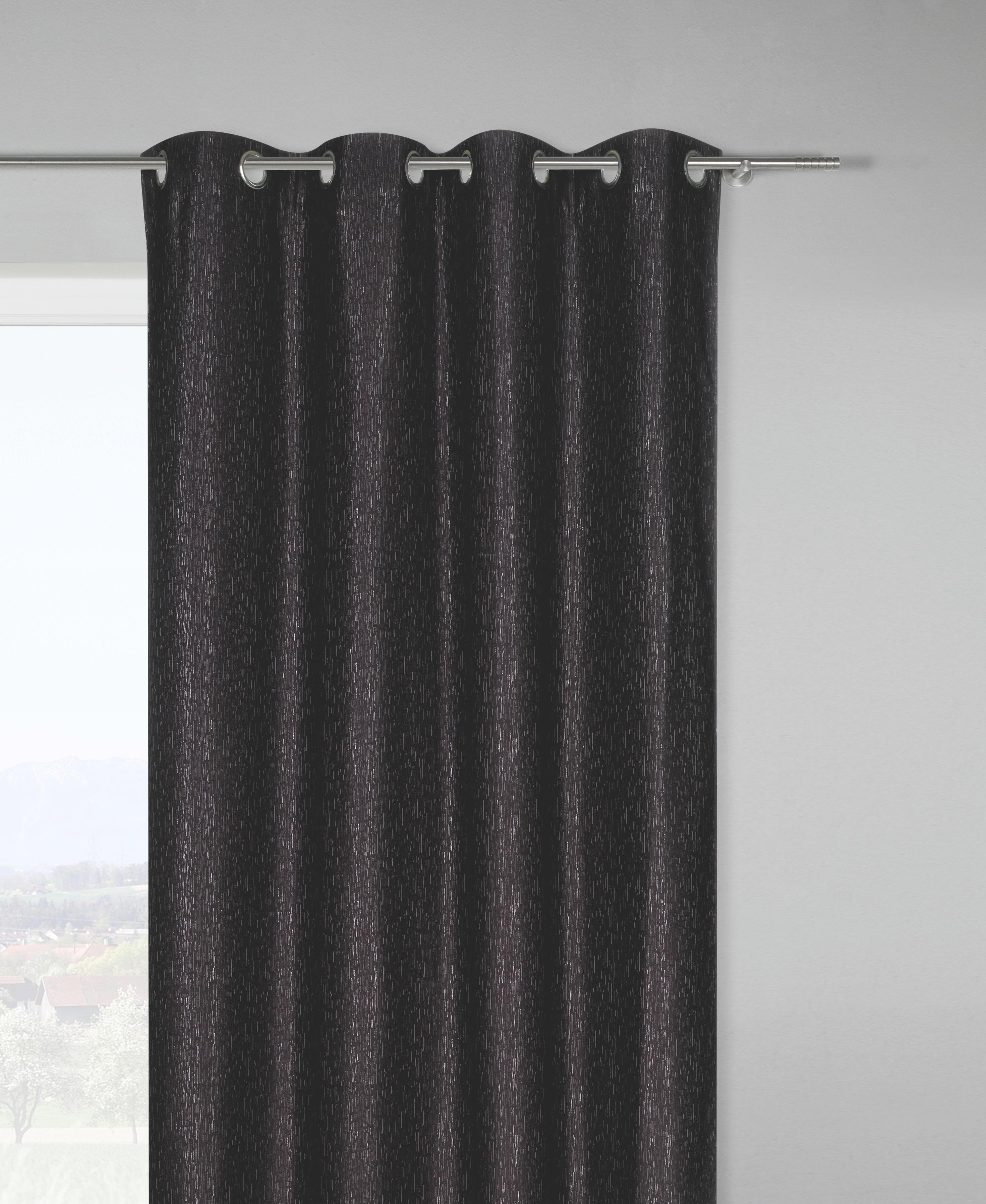 Készfüggöny Martin - fekete, Lifestyle, textil (140/245cm) - MÖMAX modern living