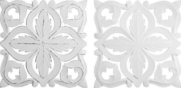 Stenska Dekoracija Krishna - bela, leseni material (50/50cm) - Mömax modern living