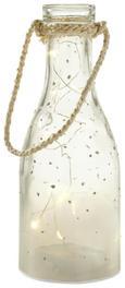 Dekoflasche Parker mit Led Ø/h ca. 10/25 cm - Klar, MODERN, Glas (10/25cm) - Mömax modern living