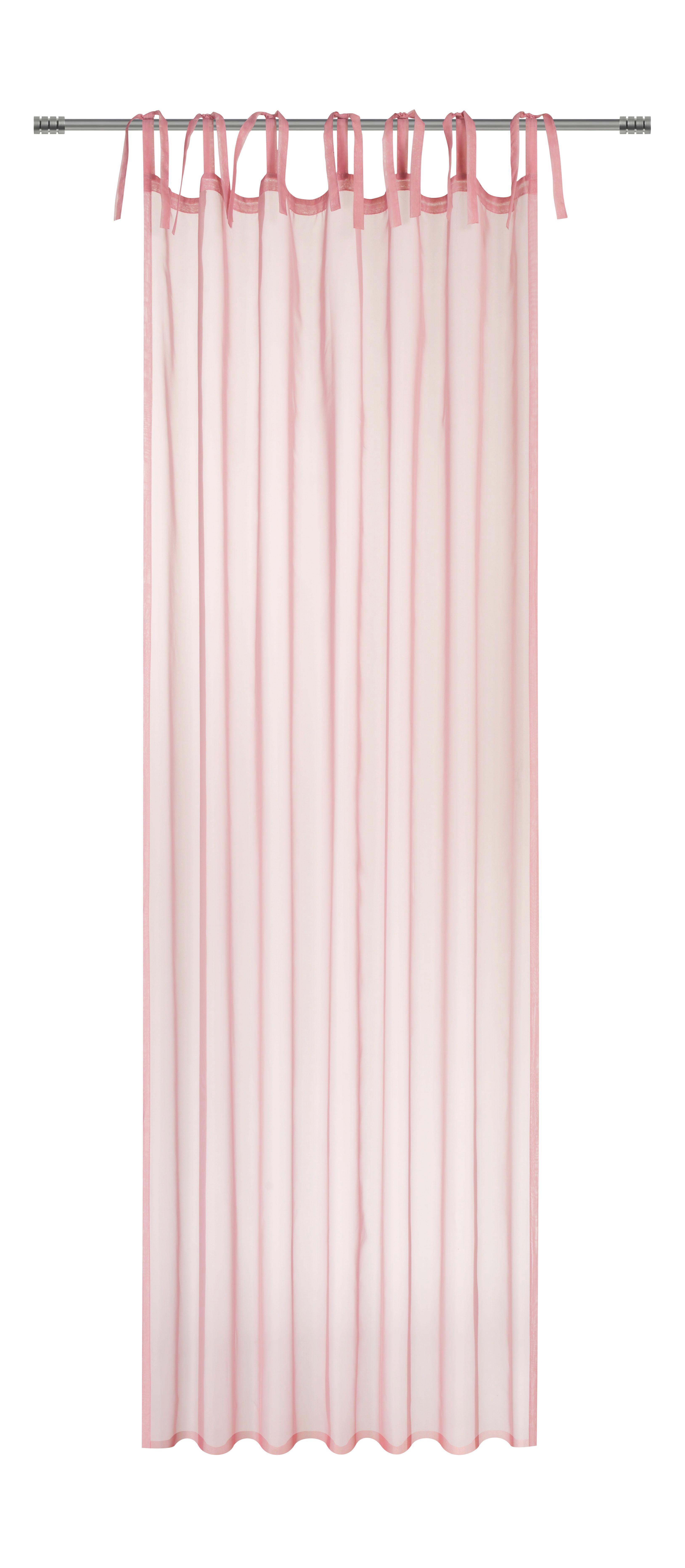 Készfüggöny Lisa - világos kék/rózsaszín, romantikus/Landhaus, textil (145/245cm) - MÖMAX modern living