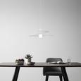 Pendelleuchte Angelo - Weiß, MODERN, Metall (48/113cm) - Modern Living