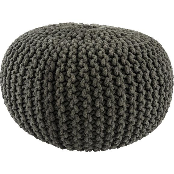 Pernă Șezut Aline - antracit, textil (50/30cm) - Premium Living