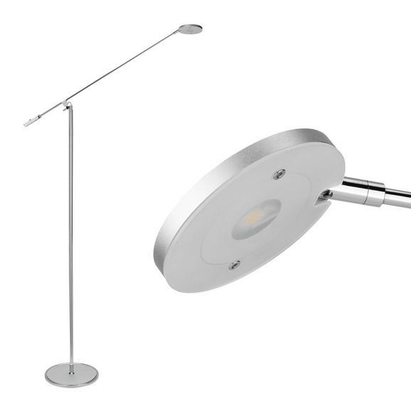 Stehleuchte Pedro mit Led - Chromfarben/Silberfarben, MODERN, Kunststoff/Metall (53/23/150cm) - Mömax modern living