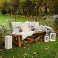 Gartenbank Antigua aus Akazienholz - Akaziefarben, Holz (240/40/45cm) - Bessagi Garden