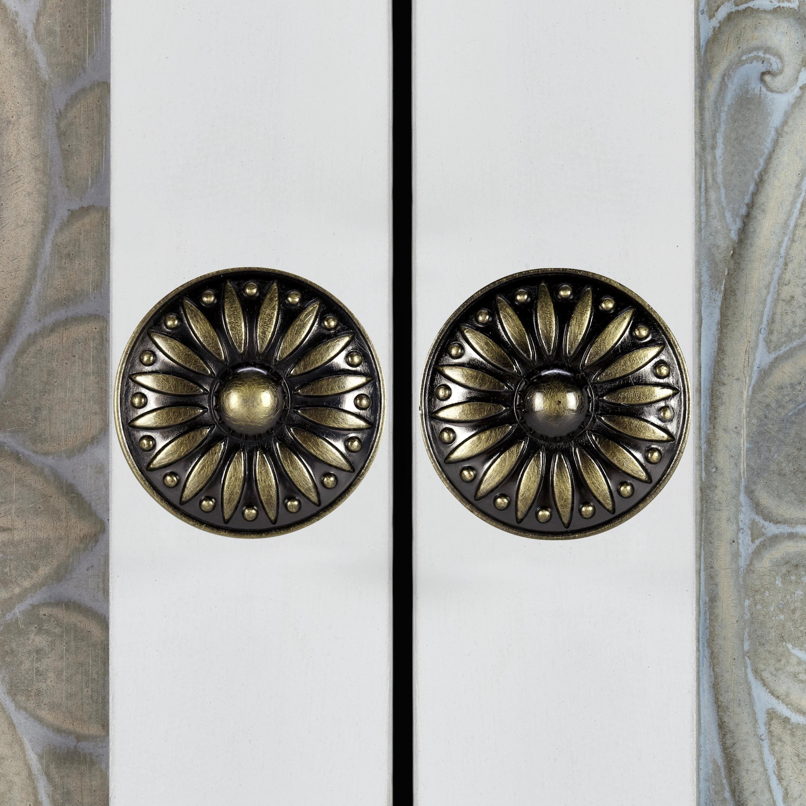 Schrank Avery - Beige/Weiß, MODERN, Holz/Metall (85/120/38cm) - PREMIUM LIVING