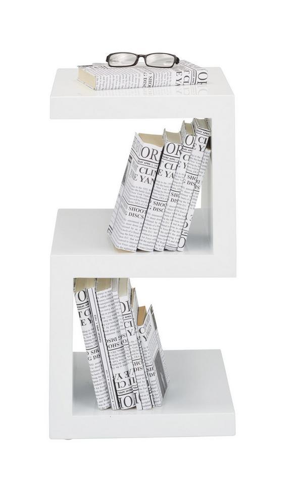 Beistelltisch in Weiß Hochglanz - Weiß, MODERN, Holzwerkstoff (32/59/32cm) - Mömax modern living