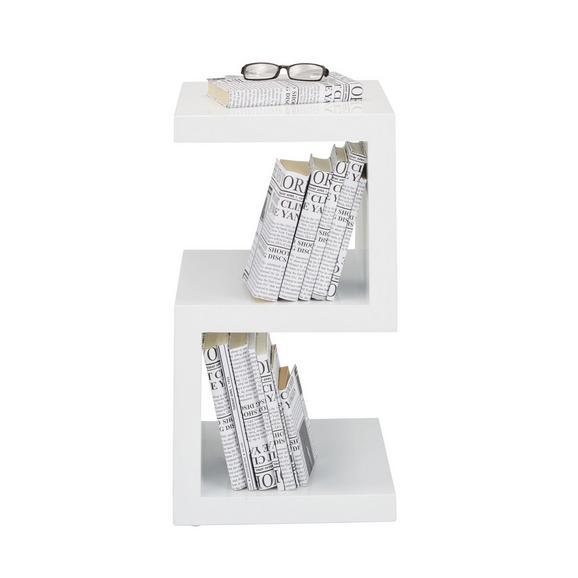 Beistelltisch Weiß Hochglanz - Weiß, MODERN, Holzwerkstoff (32/59/32cm) - Mömax modern living