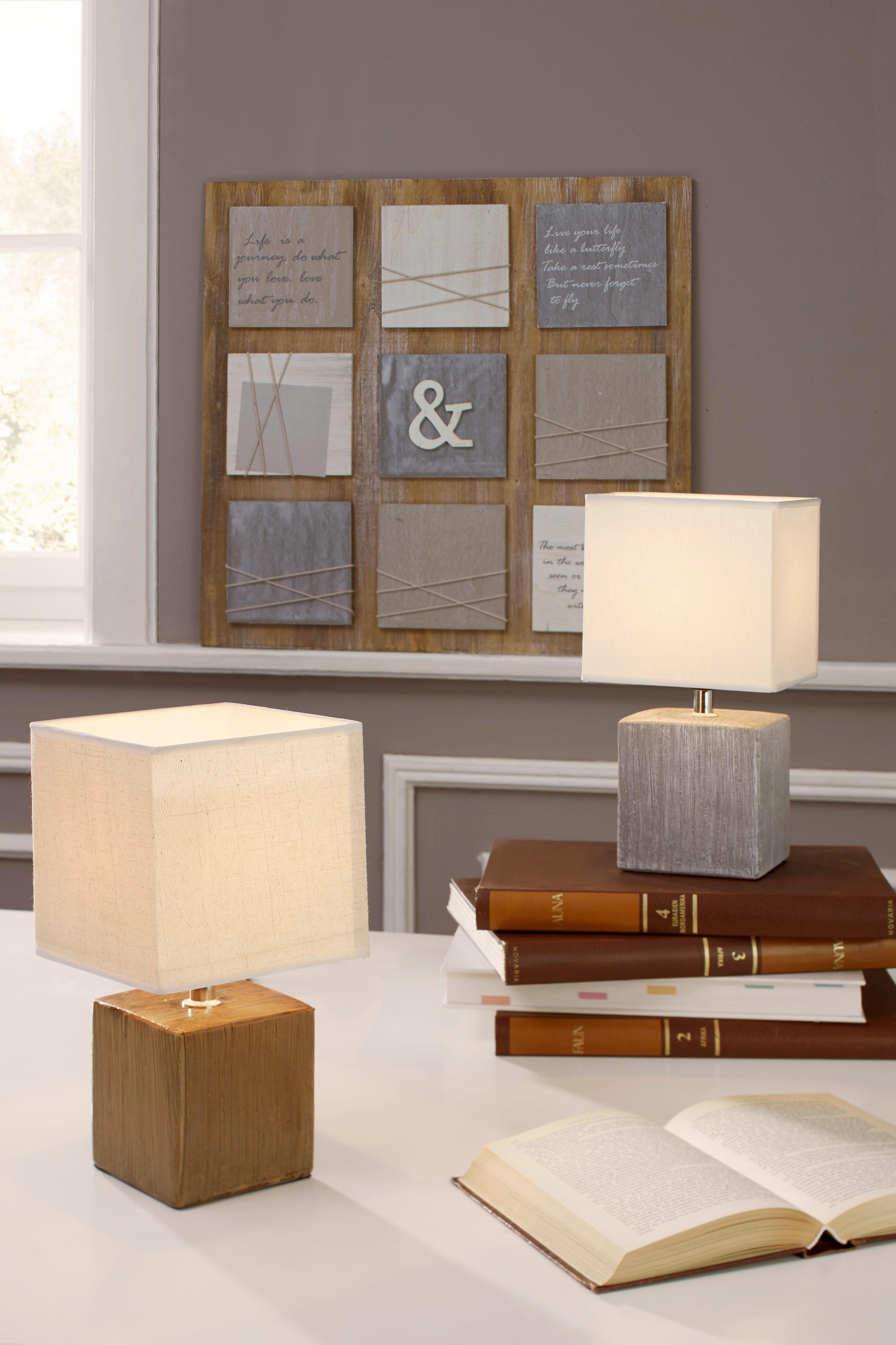 Asztali Lámpa Wanda - fehér/szürke, textil/kerámia (15,5/28cm) - MÖMAX modern living