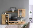 Wohnwand Eichefarben - Eichefarben/Hellgrau, KONVENTIONELL, Glas/Holzwerkstoff (300/200,9/41cm) - Mömax modern living