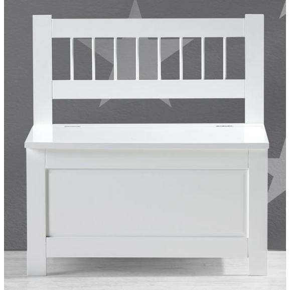 Kindersitzbank Bolognia inkl. Stauraum - Weiß, MODERN, Holz (60/62/35cm) - Bessagi Kids