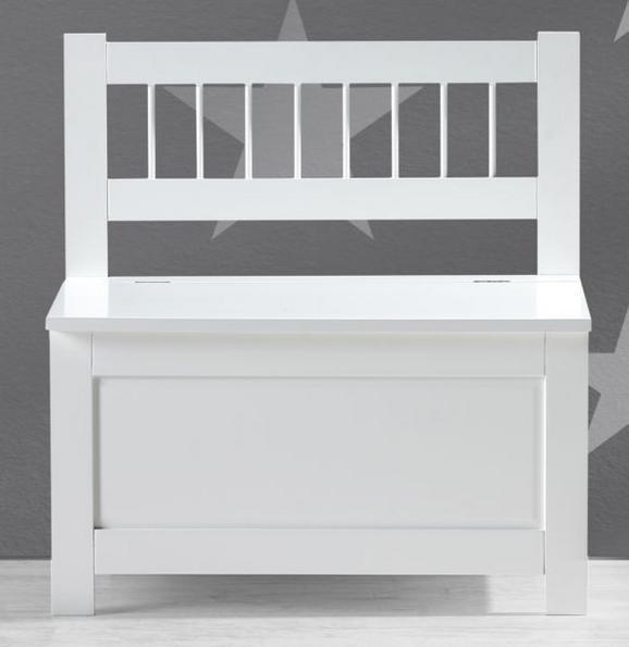 Kindersitzbank Bolognia inkl. Stauraum - Weiß, MODERN, Holz (60/62/35cm) - Mömax modern living