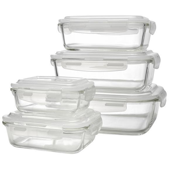 Set Caserole Alimentare Jenny - clar/transparentă, plastic/sticlă - Modern Living