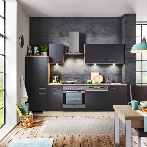 Küchenblock Milano Anthrazit/Eiche - Eichefarben/Anthrazit, MODERN, Holzwerkstoff (270cm)