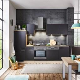 Kuhinjski Blok Milano - hrast/antracit, Moderno, leseni material (270cm)