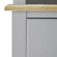 Kredenz Anouk - Weiß/Grau, MODERN, Holz (117,5/183/45,5cm) - Modern Living