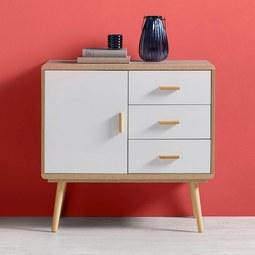 Sideboard Claire - Eichefarben/Weiß, MODERN, Holz (80/78/39cm) - Modern Living
