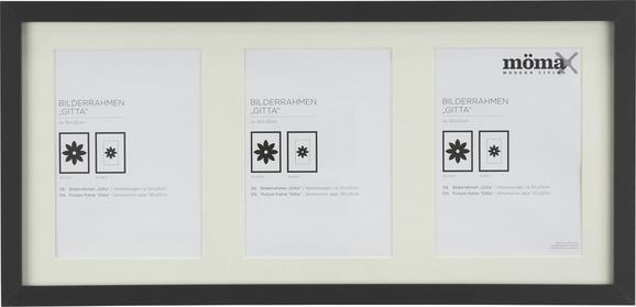 Bilderrahmen Gitta, ca. 23x50cm in Schwarz - Schwarz, MODERN, Glas/Holz (23/50cm) - MÖMAX modern living