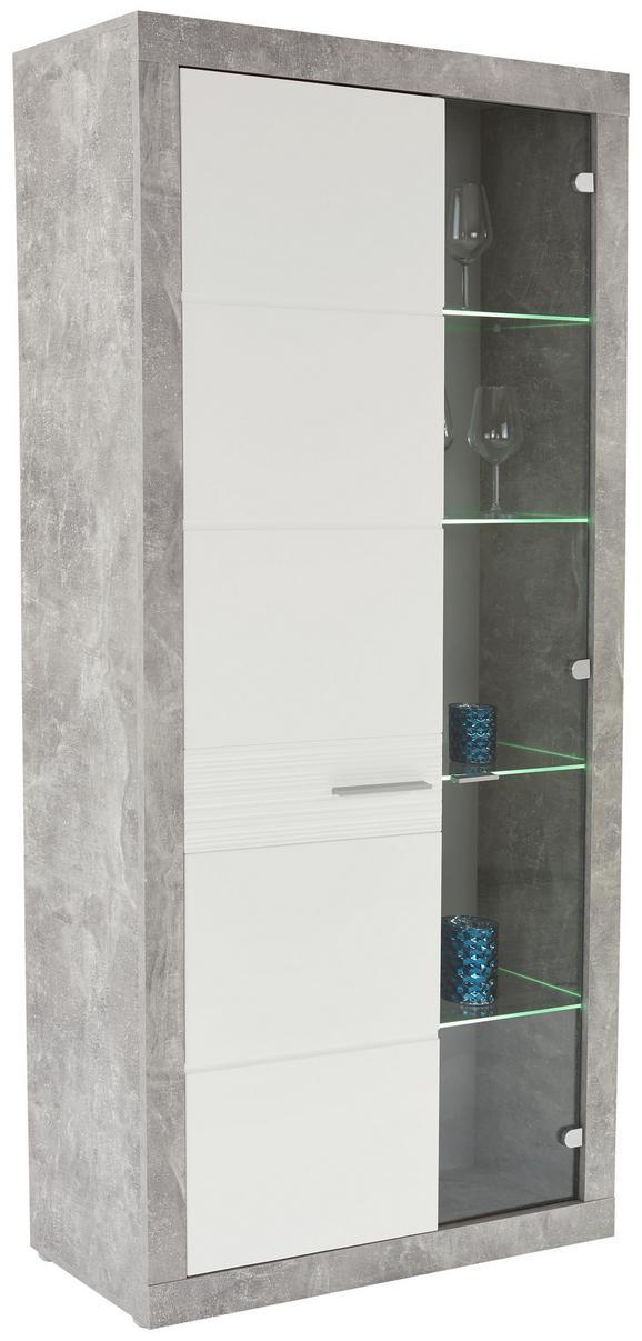 Vitrina Malta - aluminij/siva, Moderno, umetna masa/steklo (96/197/35cm) - Mömax modern living