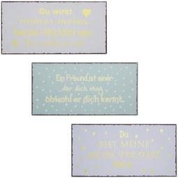 Dekoschild Lisa verschiedene Farben - Goldfarben/Rosa, Metall (40/20cm)