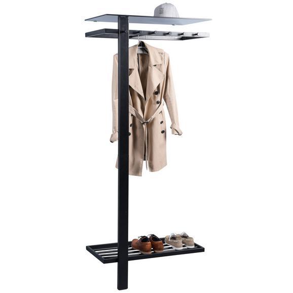 Garderobe aus Edelstahl in Schwarz - Schwarz, MODERN, Metall (80/190/43cm) - Mömax modern living