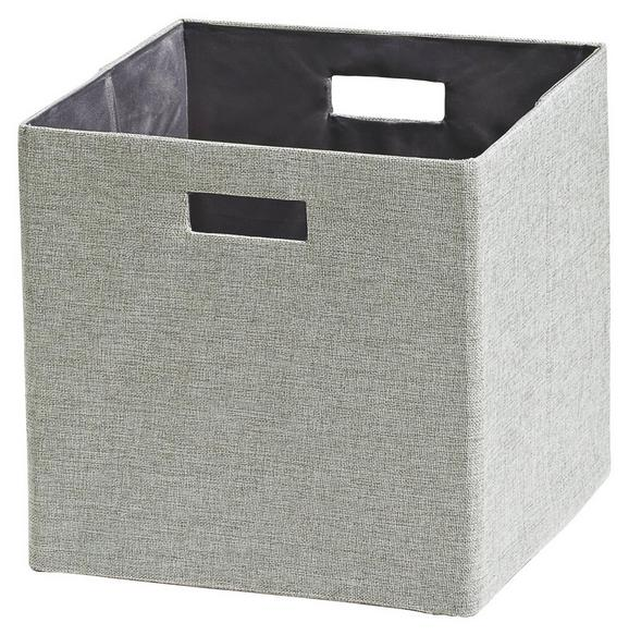 Tárolódoboz Bobby - ezüst színű, modern, textil (33/33/32cm) - MÖMAX modern living