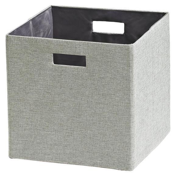 Zložljiv Zaboj Bobby - srebrna, Moderno, papir/umetna masa (33/33/32cm) - Mömax modern living