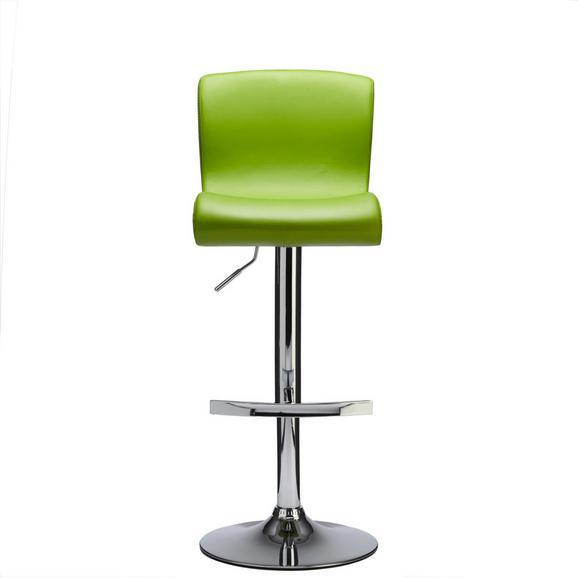 Bárszék Fresh - zöld, modern, bőr/fém (38/88-110/49cm)