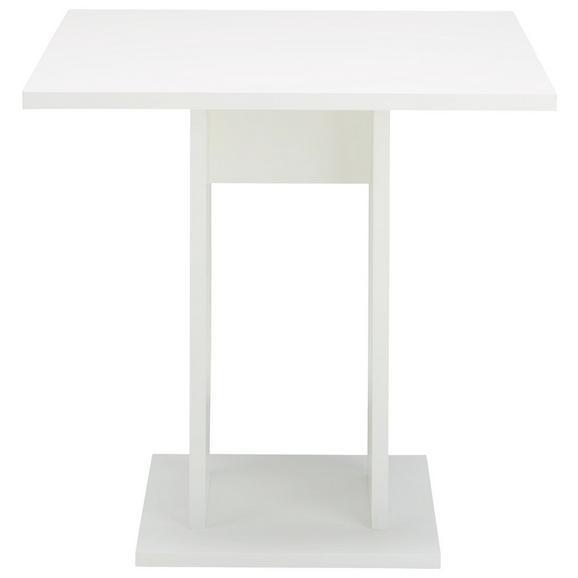 Esstisch in Weiß - Weiß, MODERN, Holzwerkstoff (75l) - Modern Living
