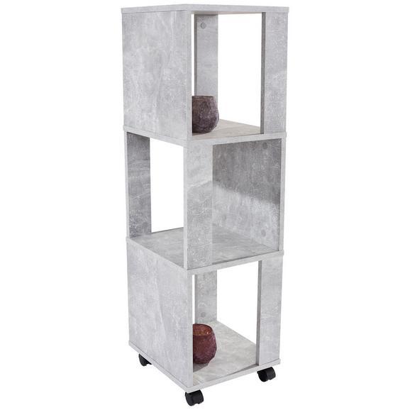 Etajeră Rolly - gri, Modern, plastic/compozit lemnos (34/111/34cm)