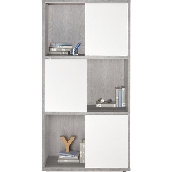 Regal Grau/Weiß - Weiß/Grau, Holzwerkstoff (90/185/40cm) - Modern Living