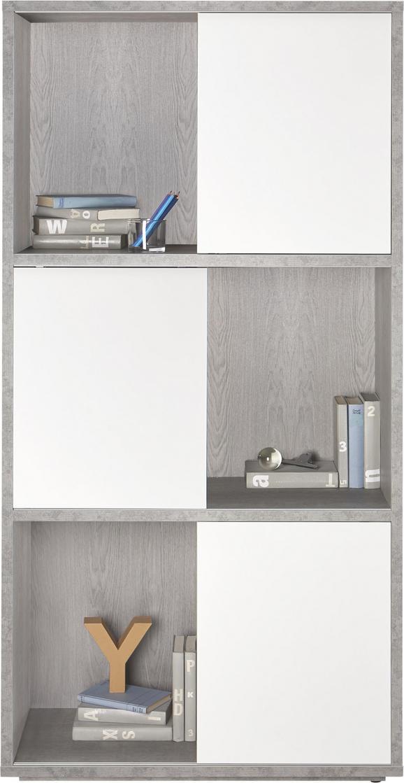 Regal in Grau/Weiß - Weiß/Grau, Holzwerkstoff (90/185/40cm) - Modern Living