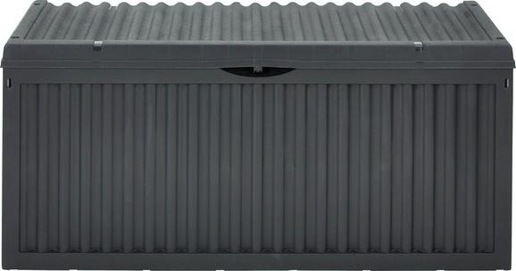 Kissenbox Wave in Anthrazit - Anthrazit/Hellgrau, Kunststoff (120/52/54cm) - Mömax modern living