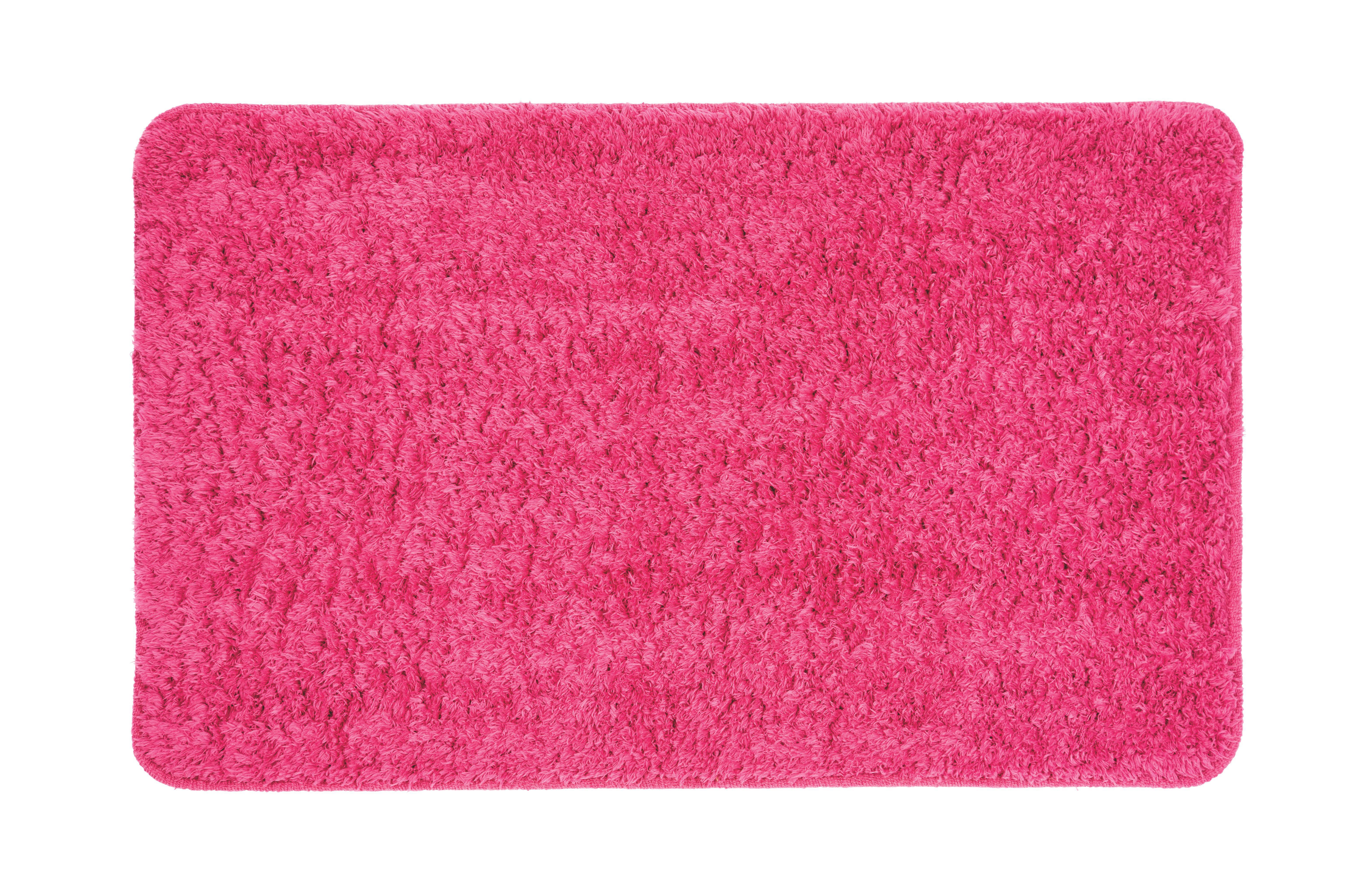 Fürdőszobaszőnyeg Kerstin Fluffy - pink, textil (50/80cm) - MÖMAX modern living