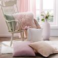Zierkissen Schaun in Rosa ca. 40x40cm - Rosa, Textil (40/40cm) - Premium Living
